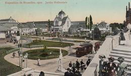 BRUSSELS / BRUXELLES / BRUSSEL / EXPO 1910 / HOLLAND / JARDINS / TRAM / TRAMWAYS - Wereldtentoonstellingen