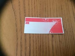 Ticket De Transport * (Bus, Métro, Tramway) TCL (neutre) LYON (69) - Bus