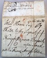 Schweiz RICHTERSWIL ZÜRICH 1787 Vorphilatelie Brief> NINEWELLS SCOTLAND(Great Britain France Joseph Hume John Home Cover - ...-1845 Prefilatelia
