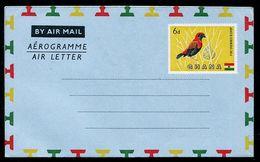 FP0177 Ghana 1966 Birds Aerogramme - Ghana (1957-...)