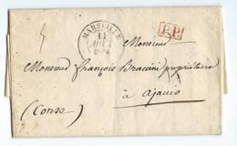 LETTRE PRECURSEUR  Destination CORSE Ajaccio - Marcophilie (Lettres)