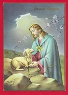 CARTOLINA VG ITALIA - BUONA PASQUA - Cristo Pastore - CECAMI 7348 - 10 X 15 - 1970 MONZA - Pasqua