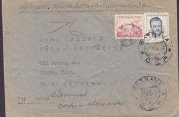 Czechoslovakia Par Avion ROSNAVA 1950 Cover Brief ELYRIA Ohio United States - Briefe U. Dokumente
