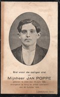 JAN POPPE ZELE  VERONGELUKT TE GILLY 1916 - Religion & Esotericism