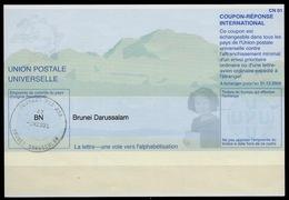BRUNEI DARUSSALAMPe31 20011130 AA International Reply Coupon Reponse IAS IRC Antwortschein O BRUNEI 3.3.2004 - Brunei (1984-...)