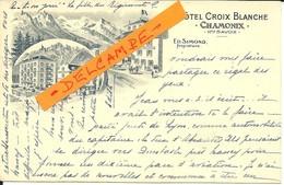 - 74  -   CHAMONIX  -  Hôtel 'Croix-Blanche' - Chamonix-Mont-Blanc