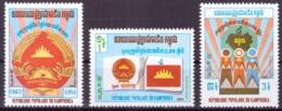 Kampuchea 1983 MNH** - Libération - Armoiries - Drapeaux - Michel Nr. 450-452 Série Complète (cam228) - Kampuchea