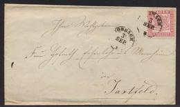 Altdeutschland Brief Baden EF 18 K 1 Nach Jaxtfeld  - Baden