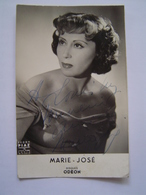CARTE MUSIQUE : BENJAMIN / DISQUES ODEON / DEDICACE MARIE JOSE / PHOTO TEDDY PIAZ - Autographes
