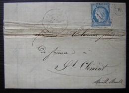 Bertrambois Meurthe Et Moselle 1875 Origine Rurale Cad De Cirey-sur-Vezouze Boucher Marchand De Faïence - Postmark Collection (Covers)
