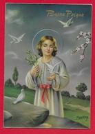 CARTOLINA VG ITALIA - BUONA PASQUA - Cristo Con Colombe - P. Ventura - CECAMI 7337 LUCIDA - 10 X 15 - 1960 - Pasqua