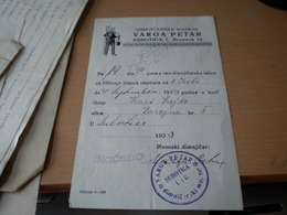 Chimney Sweep Dimnjicar  Varga Petar Subotica 1939 - Sin Clasificación