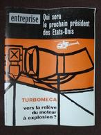 E195 Revue Hebdo ENTREPRISE 30/05/59 Qui Sera Le Prochain Président Des USA Turboméca Moteur Le Rail Citroën - General Issues