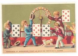 Chromo Jeu Forain, 8 De Coeur ( Cartes à Jouer, Enfants ) - Chromos