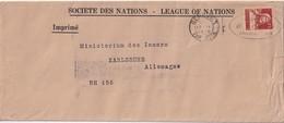 SUISSE LETTRE DE LA SOCIETE DES NATIONS  GENEVE 1930 - Officials