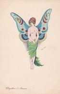 """Illustrateur Xavier SAGER - """"Papillon D'Amour""""  édit K.F Paris 4544 - Femme Nue  Papillon - Sager, Xavier"""