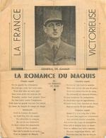 MILITARIA  La Romance Du Maquis  Charle De Gaulle  Guerre 1939.45 2 Scans - Documents