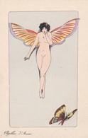 """Illustrateur Xavier SAGER - """"Papillon D'Amour"""" B.G. Paris 589 - Femme Nue  Papillon - Sager, Xavier"""