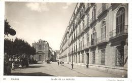 POSTAL  MALAGA  -ANDALUCIA  - PLAZA DE LA MERCED  (FOT. L. ROISIN) - Málaga