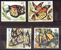 Papillons - WWF - 1988 - Mexique - N° 1257 à 1260 - Neufs ** - Butterflies