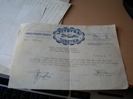 Subotica Titovka Subotica  Gradsko Krojacko Preduzece - Facturas & Documentos Mercantiles