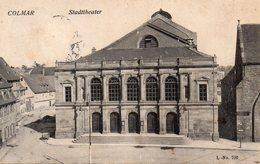 Le Théâtre De Colmar Carte Envoyée à ANOULD Le Souche Pour Fernande HIERILY - 6-10-1907 - Anould