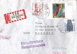 ! 1 Einschreiben 1996 Mit R-Zettel Aus 35753 Greifenstein In Hessen - [7] Federal Republic