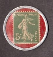 Timbre-monnaie - Crédit Lyonnais Emprunt National 6% 1920 - Semeuse N° 137 - Monétaires / De Nécessité