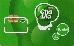 ZAMBIA - TEST PROOF CARD - GSM CARD ZAMTEL WITH ERROR CHIP - RRR - Zambia