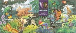 Australia 1994 Endangered Species Block Issue MNH Elephant Ara Cheetah Orang Utan Iguana Zoos - Postzegels