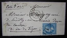 Arras 1864 Petite Lettre Pour Le Curé De Pouilly En Auxois Diocèse De Dijon - 1849-1876: Periodo Clásico