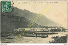 73.  MONTMELIAN .  Exercice De Pontage Sur L'Isère Par Le 4e Génie . - Montmelian