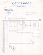 3-2039    Facture  1965  DECORHOME ANDRE GAULE A HAUTEVILLE - M.MARTIN A SAINT JEAN DE SAUVES - France