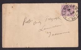 Australia - Victoria: Cover Melbourne To Tasmania, 1906, 1 Stamp, Queen (damaged, See Scan) - 1850-1912 Victoria