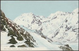 Mounts Cook, Tasman And Haidinger, C.1910 - Superbus Series Postcard - New Zealand