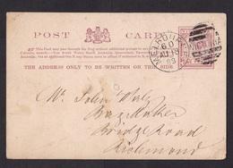 Australia - Victoria: Stationery Postcard Melbourne To Richmond, 1888, Queen (damaged, See Scan) - 1850-1912 Victoria