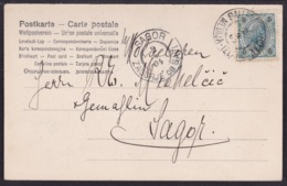 Galleneg Islak - Medija - Izlake, On Picture Postcard,  1904 - 1850-1918 Empire