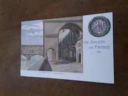 Cartolina Postale 1901, Firenze Lung'Arno Degli Archibusieri - Firenze (Florence)