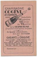 Ay Publicité Champagne Cogévi Carte 2 Volets - Ay En Champagne