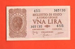 1 Lira 1944 Italia Laureata Luogotenenza  Bolaffi Cavallaro Giovinco - Italia – 1 Lira