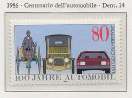PIA - GERMANIA : 1986 : Centenario Dell' Automobile  - (Yv 1100) - Automobili