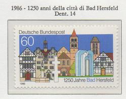 PIA - GERMANIA : 1986 : 1250 Anni Della Città Di  Hersfeld - (Yv 1103) - Neufs
