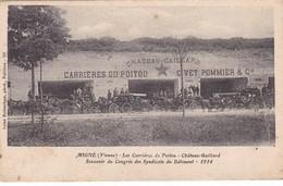 MIGNE ,,,LES CARRIERES DU  POITOU ,,, CHATEAU  GAILLARD ,,,, SOUVENIR DU CONGRES  DES SYNDICATS DU BATIMENT ,,, 1914 ,, - Syndicats