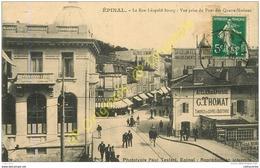 88.  EPINAL .  La Rue Léopold Bourg . Vue Prise Du Pont Des Quatre Nations. - Epinal