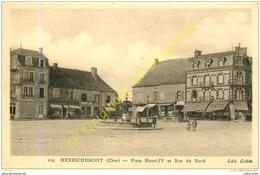 18.  HENRICHEMONT .  Place Henri IV Et Rue Du Nord . - Henrichemont