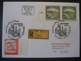 Österreich- Garsten 7.6.1985 FDC, Reco - 1981-90 Brieven