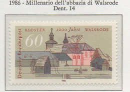 PIA - GERMANIA : 1986 : Millenario Dell' Abbazia Di Walsrode  - (Yv 1112) - Cristianismo