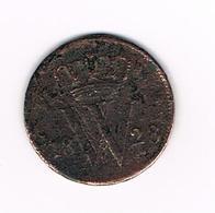 //  NEDERLAND  1 CENT  1828   WILLEM I - 1815-1840 : Willem I