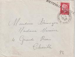 Lettre 1969 Cheffer 0.40 De Bretteville Pour Chaville Oblit. Manuelle + Griffe Linéaire - 1961-....