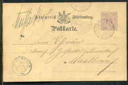 Wuerttemberg / 3 Postkarten O (u.a. K.WUERTT. BAHNPOST) (20023) - Wuerttemberg